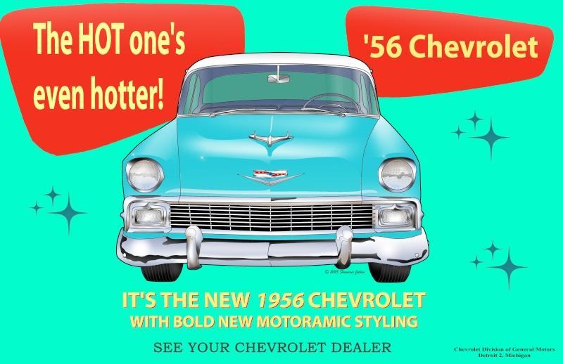 Chevrolet 55 Sport Coupe Blueprint 1956_c10