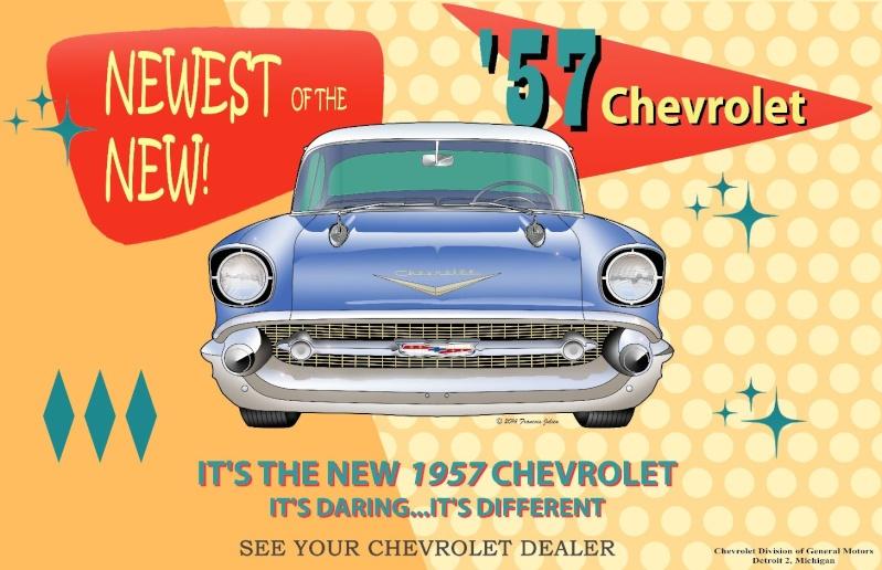 Chevrolet 55 Sport Coupe Blueprint 1957ca10