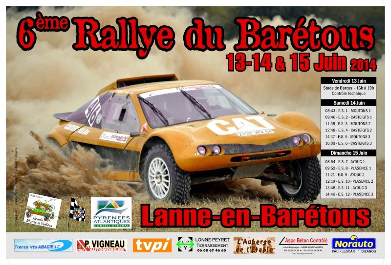 Rallye - Affiche 6eme Rallye du BARETOUS 93126110