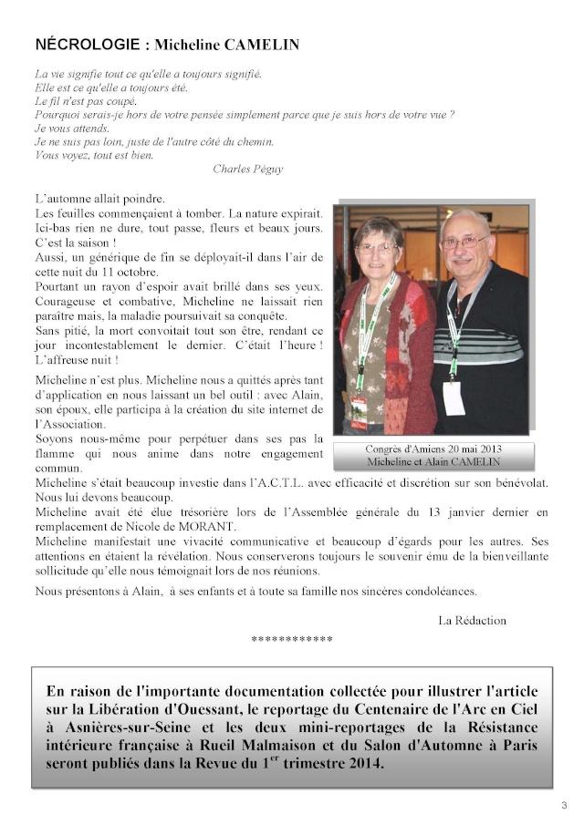 LA REVUE N° 182 4° TRIMESTRE 2013 Actl_110