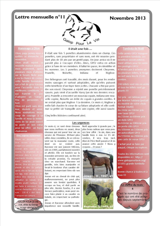 GPLV - Lettre mensuelle n°11 - Novembre 2013 Nl_nov10