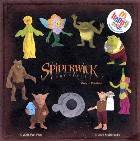 LES CHRONIQUES DE SPIDERWICK (Irwin Toy) (McDonald) 2007 Spider29