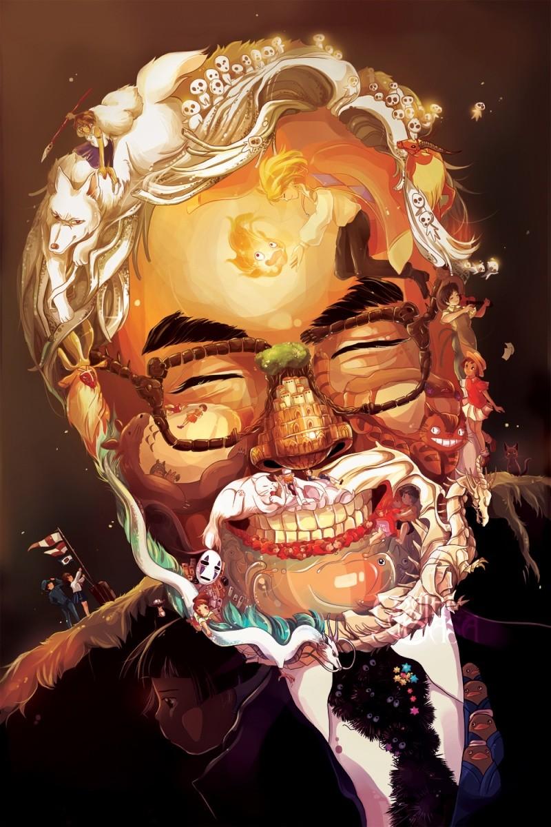 Miyazaki : portrait à la Arcimboldo Mizaya10