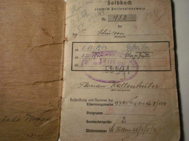 Vos livrets militaires allemands WWII (Soldbuch, Wehrpass..) / Heer-LW-KM-SS... P4170911