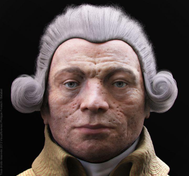 Le visage de Robespierre en 3D 34060910