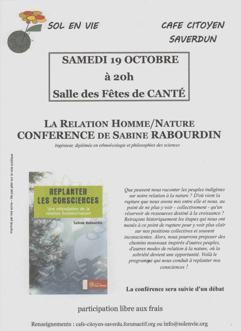 Conférence Sabine Rabourdin le 19/10 Affich13