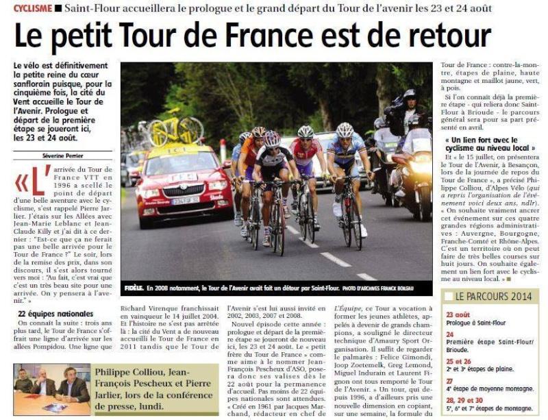 Grand Départ du Tour de l'Avenir 2014 à St Flour  15086310