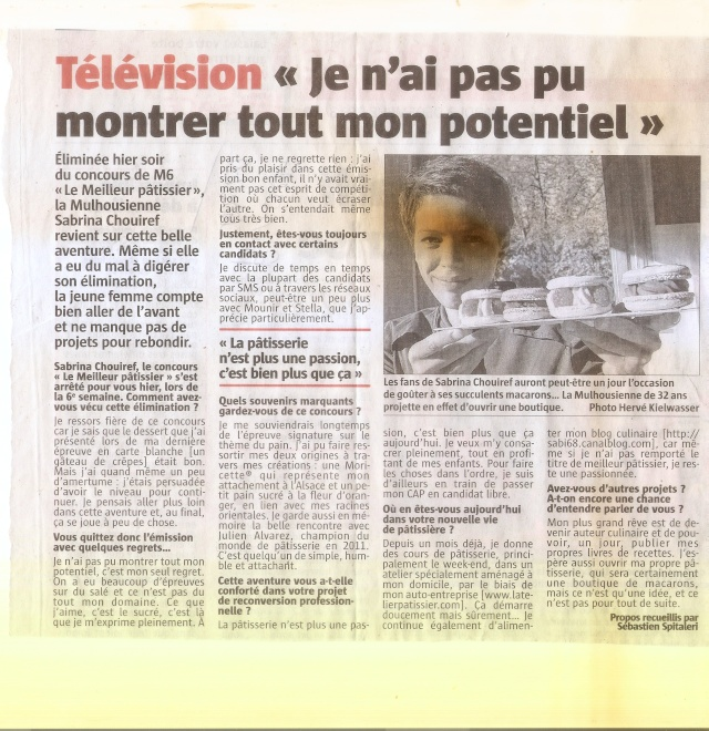 LE  MEILLEUR  PÂTISSIER  DE  FRANCE  2013 ... SAISON  DEUX ... SEMAINE  SIX ... - Page 4 Image012