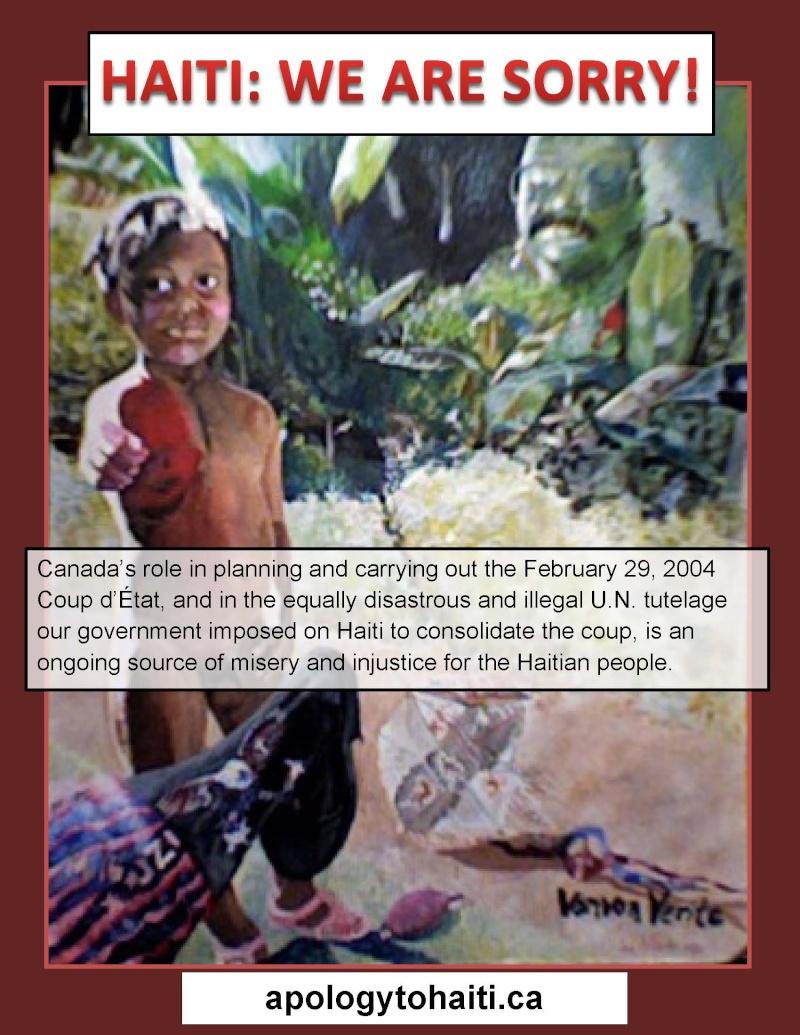 Les Canadiens présentent des excuses publiques au peuple Haïtien Haiti_10