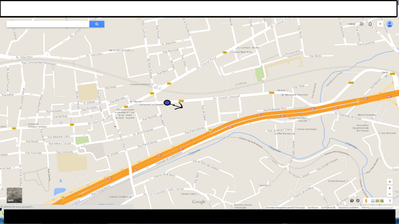 2014: le 13/04 à 21h45 environ - Lumière étrange dans le ciel  - toulon - Var (dép.83) Google10