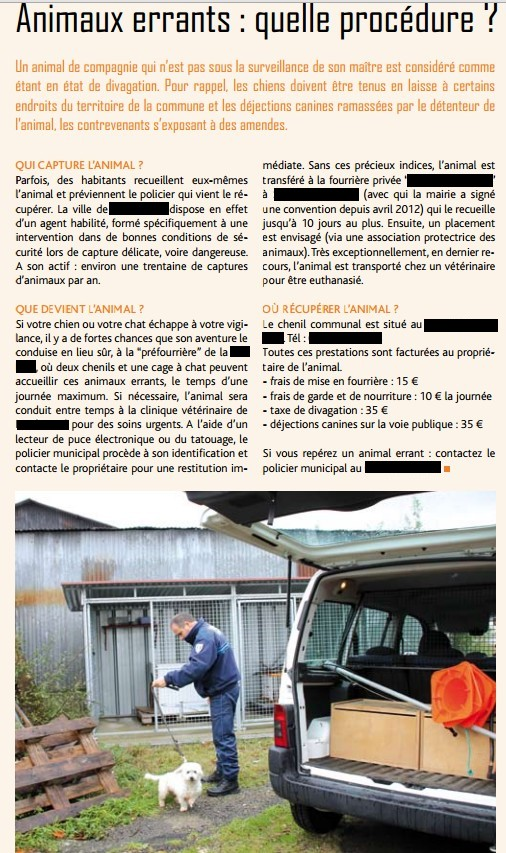 Fourrière Sud 44 : une des 18 communes (janvier 2014) Fourri10
