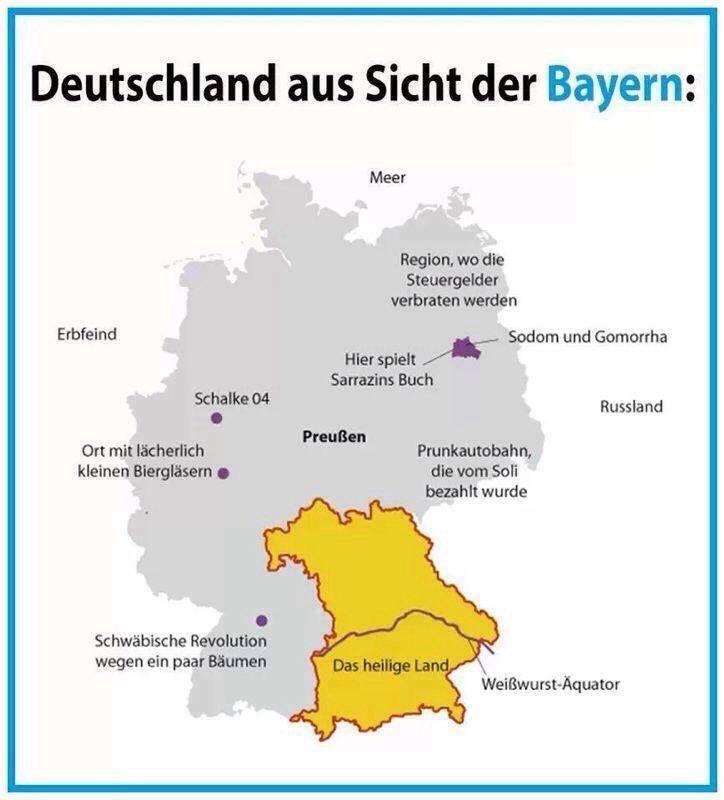Deutschland aus Sicht der Bayern Bayern10