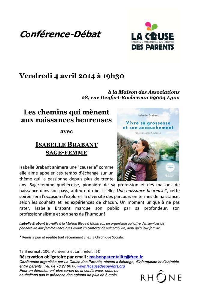 Conférence Isabelle Brabant à Lyon 16207110