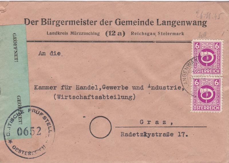 Posthornzeichnung  -  ANK 697-713  -  Belege Img38