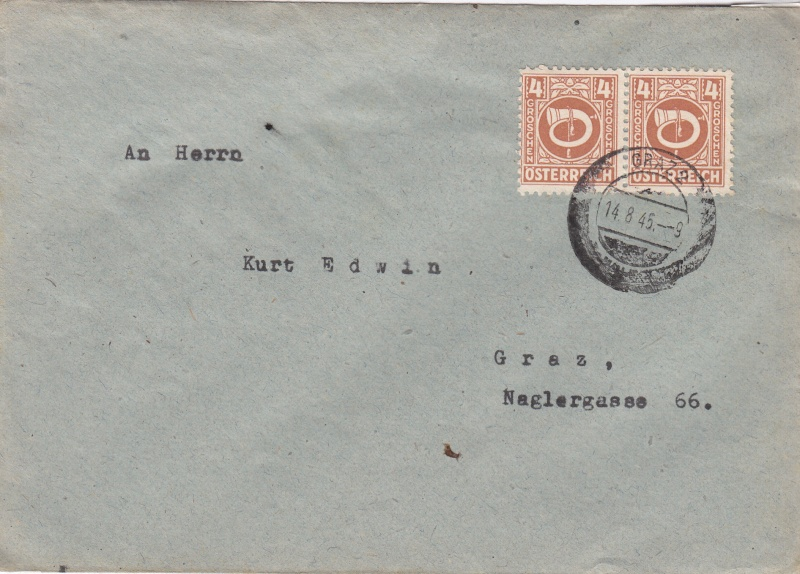 Posthornzeichnung  -  ANK 697-713  -  Belege Img79