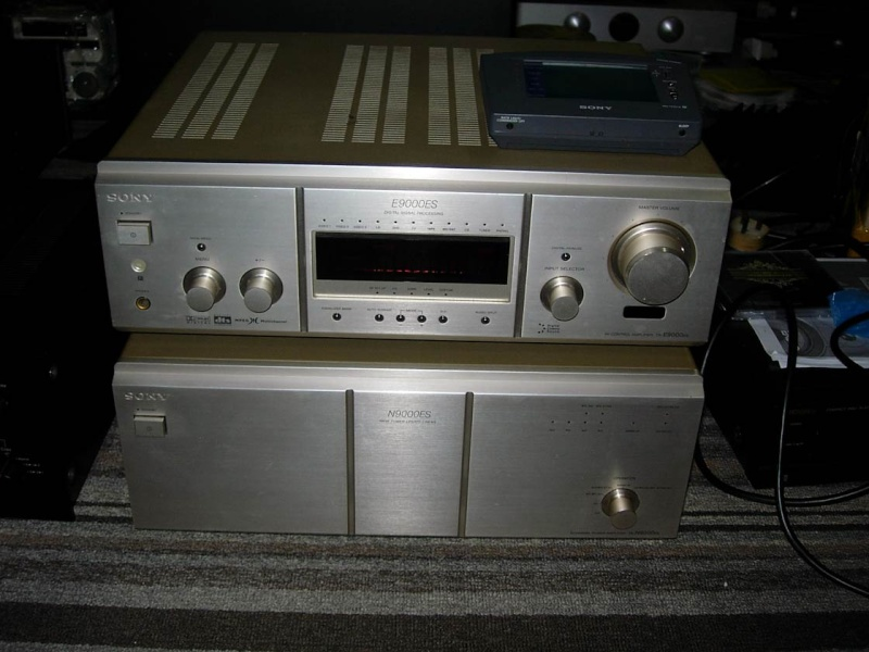 Sony ES TA-E9000ES AV Control Amplifier and Sony ES TA-N9000ES 5-channel Amplifier (Used) SOLD Sony-e10