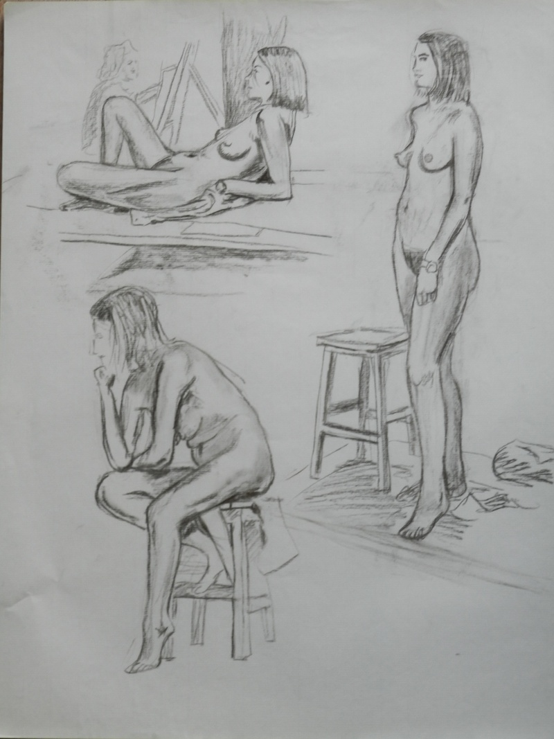 Ulysse 92 - dessins de nus 1983 Dessin10