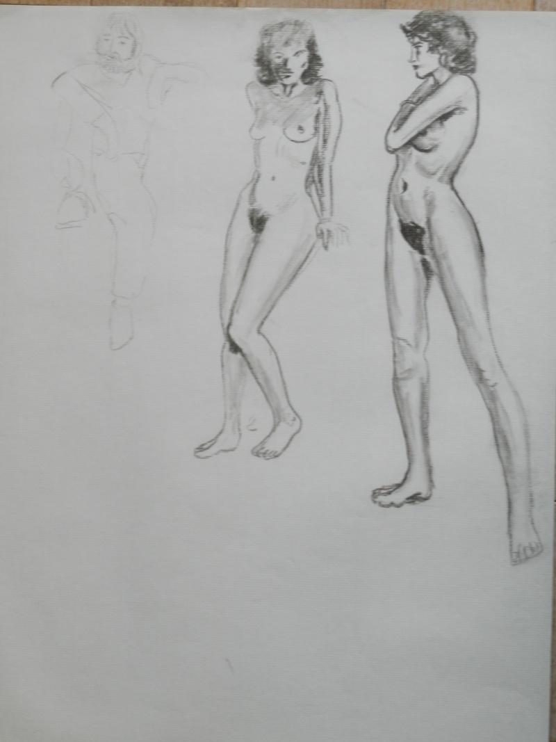 Ulysse 92 - dessins de nus 1983 Dessin12