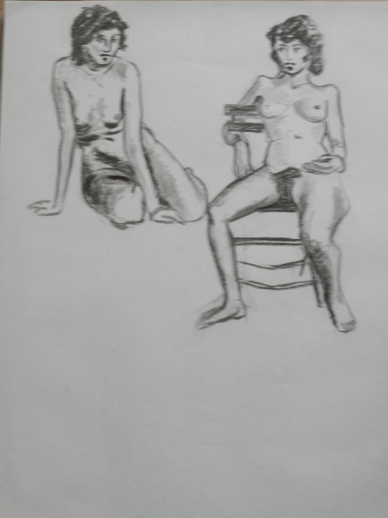 Ulysse 92 - dessins de nus 1983 Dessin13