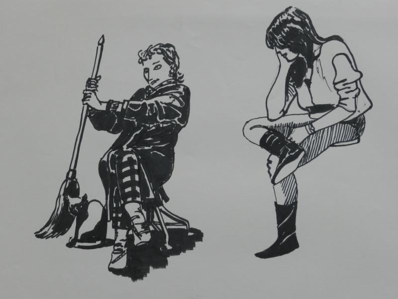 Ulysse 92 - dessins de nus 1983 Dessin18