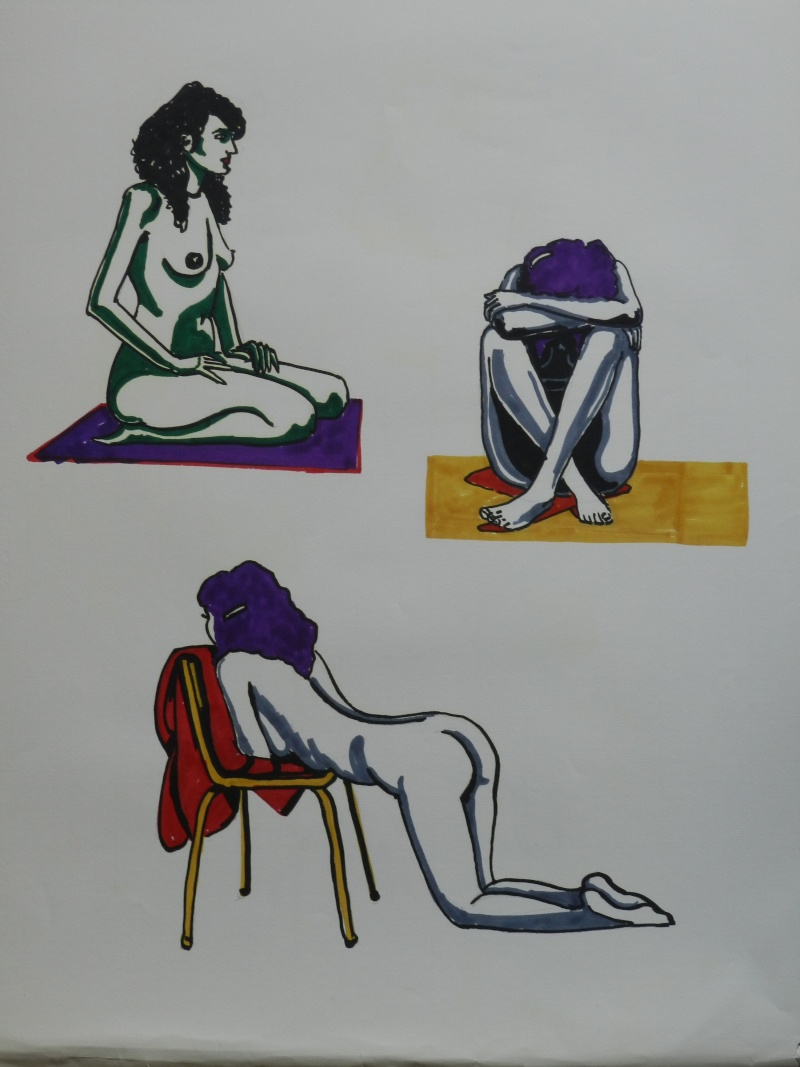 Ulysse 92 - dessins de nus 1983 Dessin25