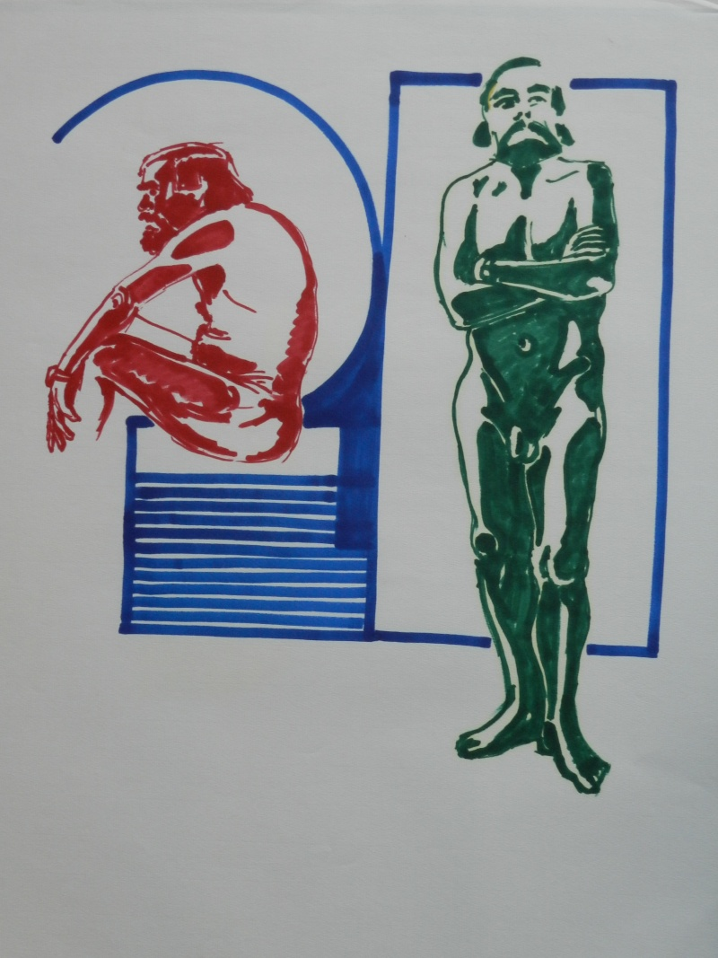 Ulysse 92 - dessins de nus 1983 Dessin28