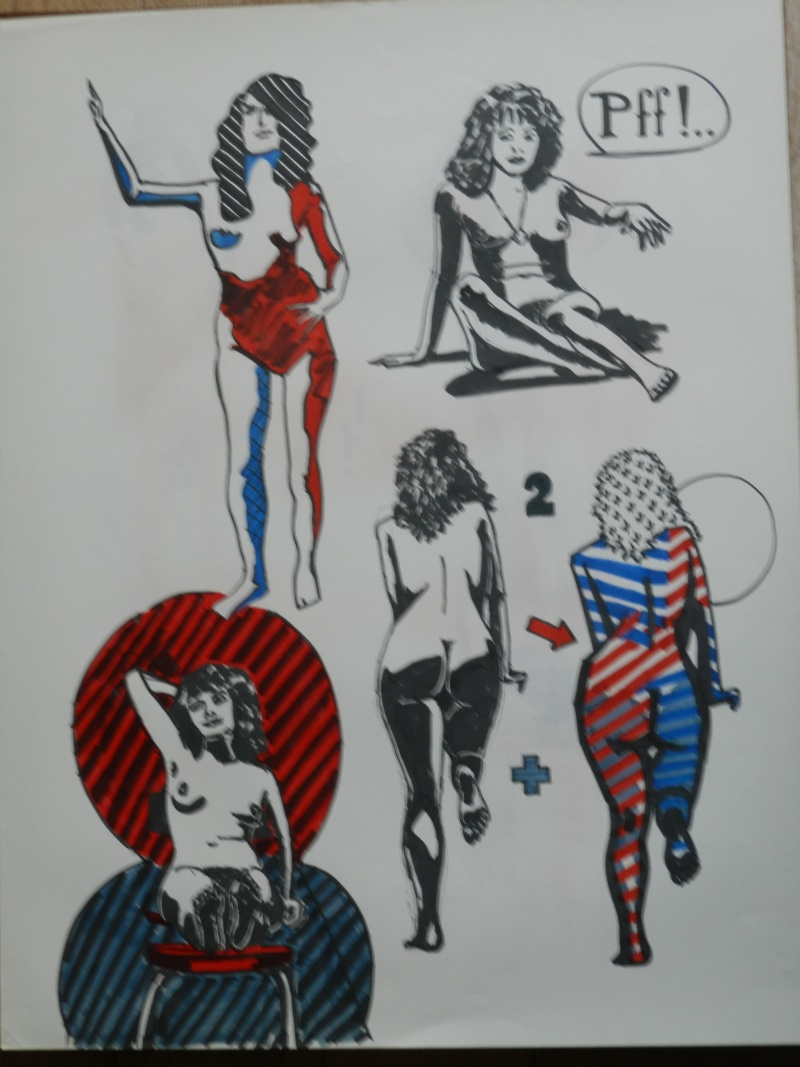 Ulysse 92 - dessins de nus 1983 Dessin43