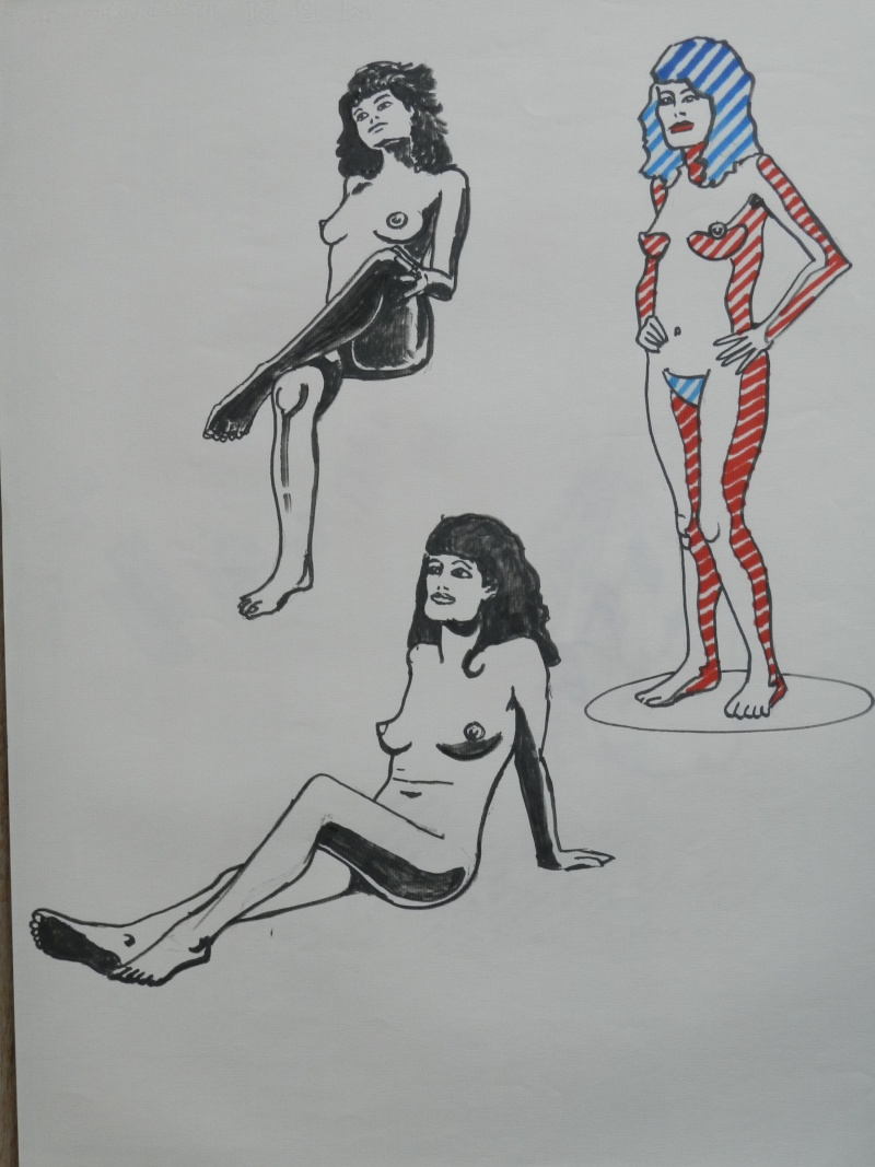 Ulysse 92 - dessins de nus 1983 Dessin46