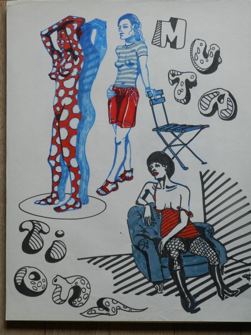 Ulysse 92 - dessins de nus 1983 Dessin49