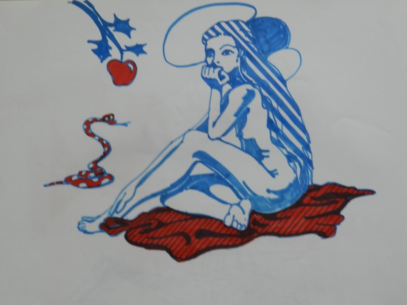 Ulysse 92 - dessins de nus 1983 Dessin50