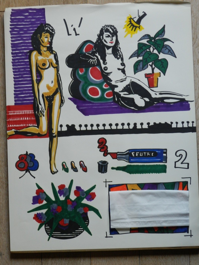 Ulysse 92 - dessins de nus 1983 Dessin55