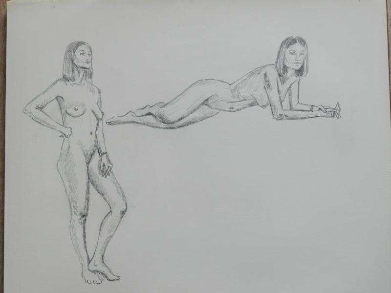 Ulysse 92 - dessins de nus 1983 Dessin59
