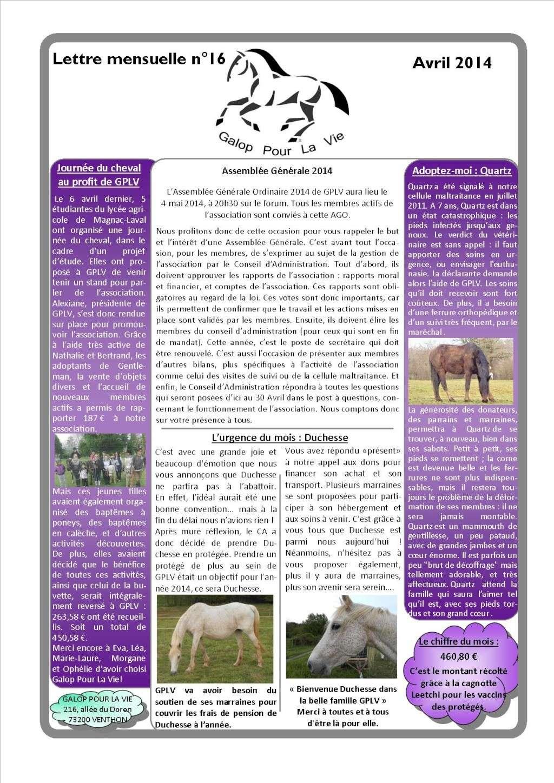 GPLV - Lettre mensuelle n°16 - Avril 2014 Nl_avr10
