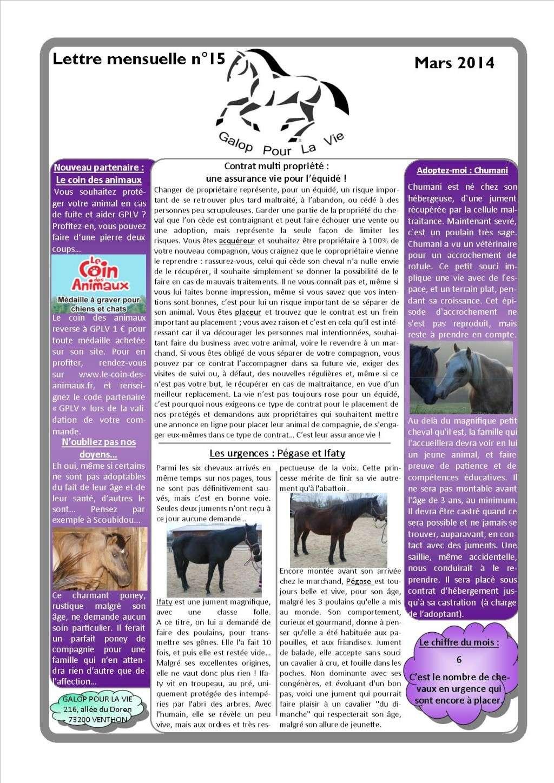 lettre - GPLV - Lettre mensuelle n°15 - Mars 2014 Nl_mar10