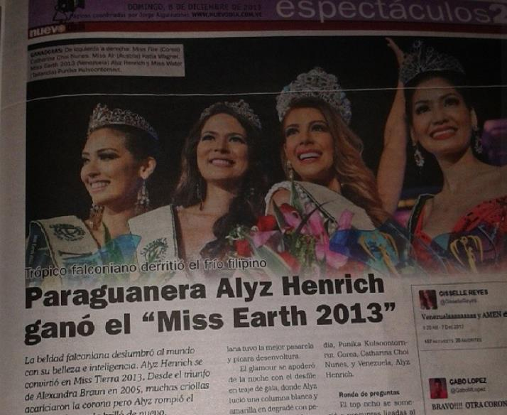 Alyz Henrich -  The Official Thread of MISS EARTH® 2013 Alyz Henrich Venezuela  97158210