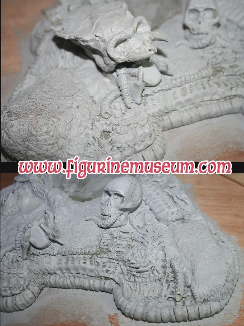 predator & son trone 1/6 eme resine  Detail29