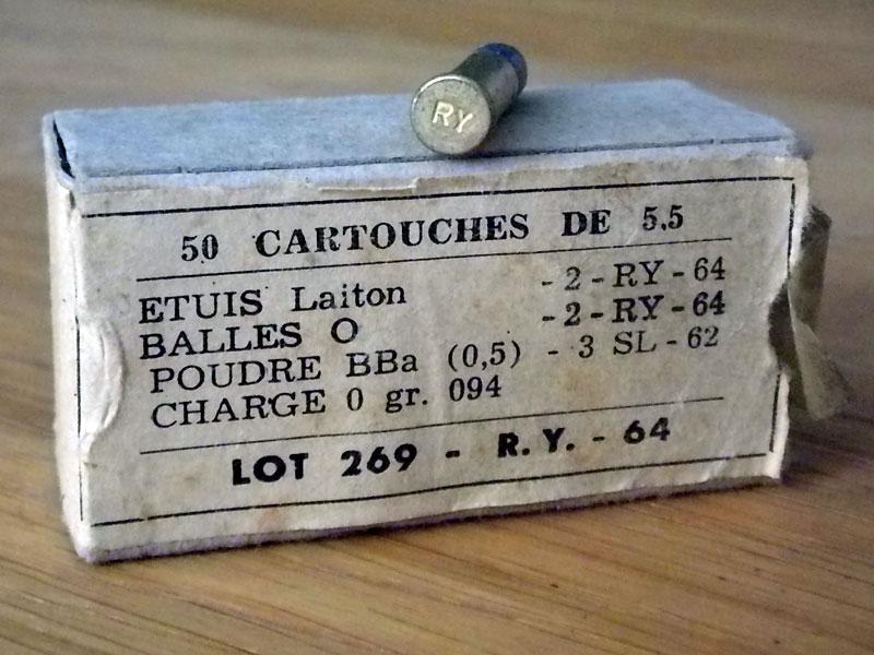 munitions .22 réglementaires 50-22-10