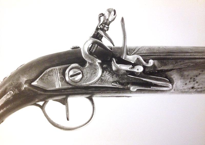 Un pistolet à silex Longsi11
