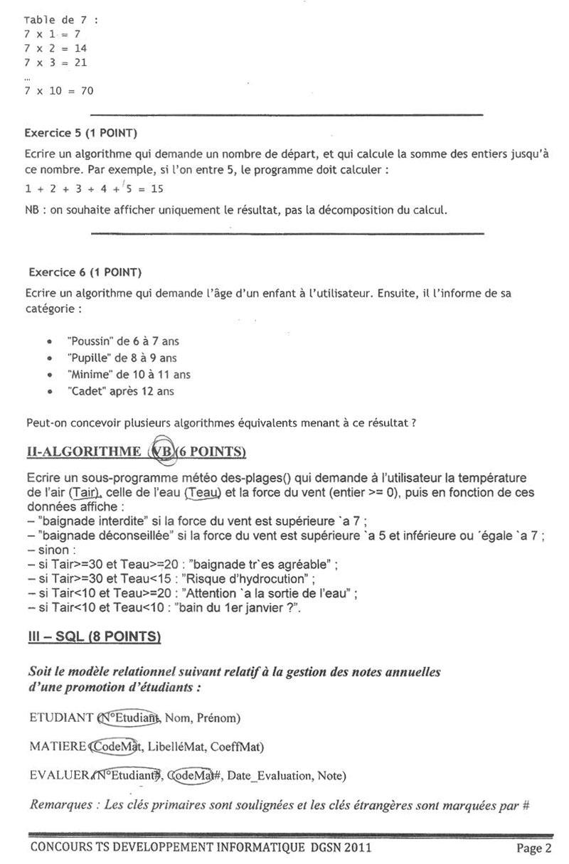 المديرية العامة للأمن الوطني: نموذج مباراة توظيف تقنيين متخصصين تخصص التنمية المعلوماتية دورة 29 أكتوبر 2011 Di211