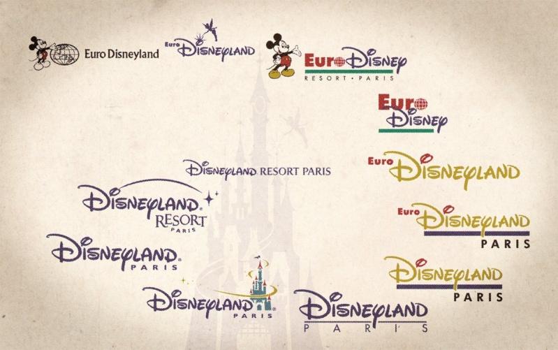 l'évolution des logos de DISNEYLAND PARIS 10159510
