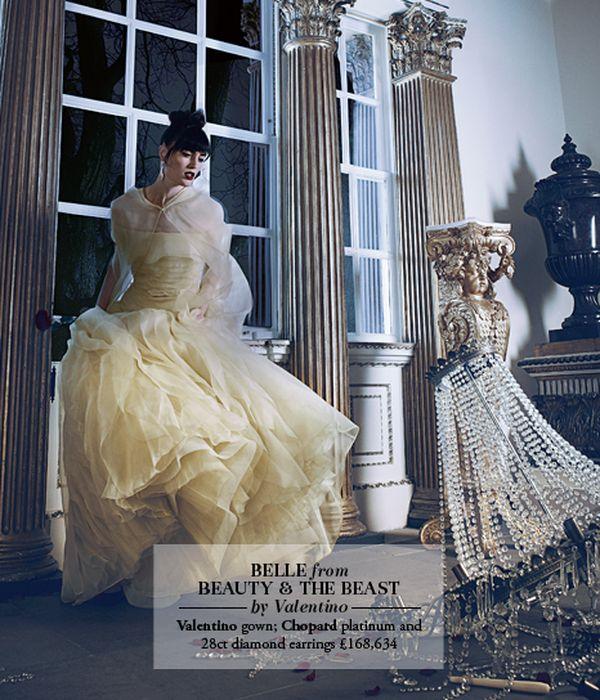 Les princesses Disney en haute couture pour le Harrods Magazine. Belle_10
