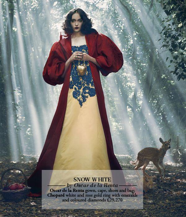 Les princesses Disney en haute couture pour le Harrods Magazine. Blanch10