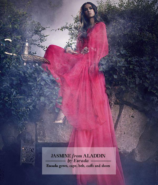 Les princesses Disney en haute couture pour le Harrods Magazine. Jasmin10