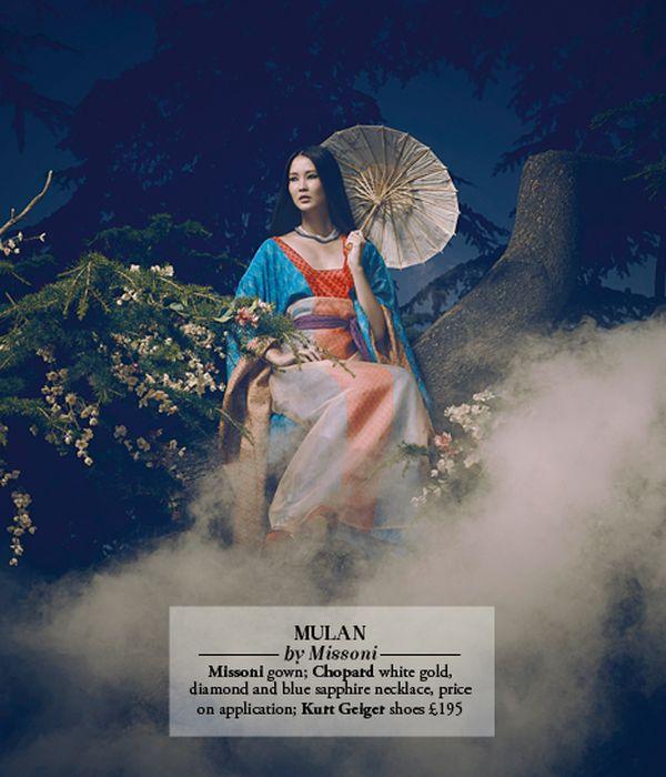 Les princesses Disney en haute couture pour le Harrods Magazine. Mulan_10