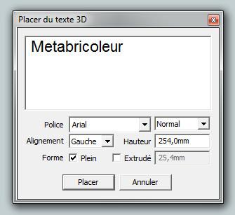 """Ecriture en """"3D"""" avec Sketchup Pro Enseig11"""