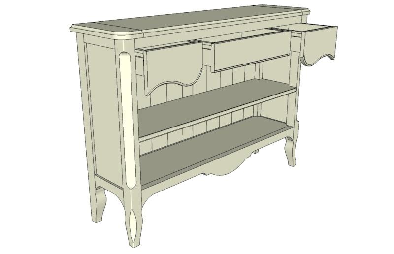 Aide sur sketchup pour plan de meuble Meuble12