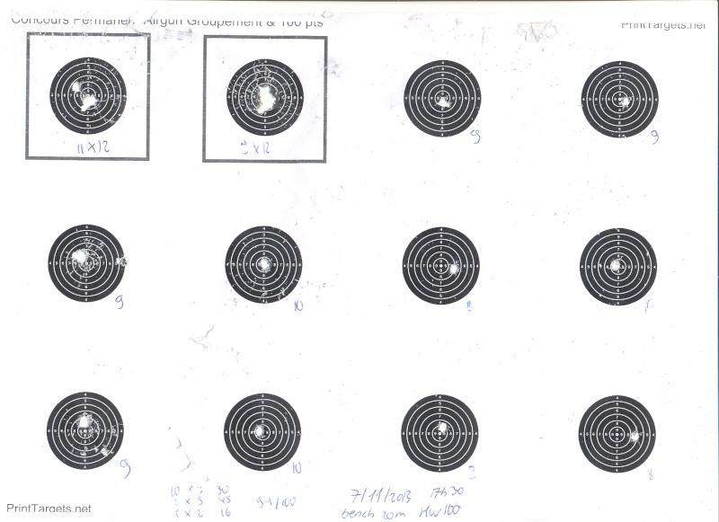 """Concours permanent bimestriel """"groupement & 100pts"""" sur cible CC A4 71120110"""