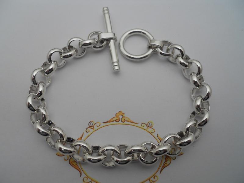 Deux bracelets, chaîne argent '' Argentiium '' 00310