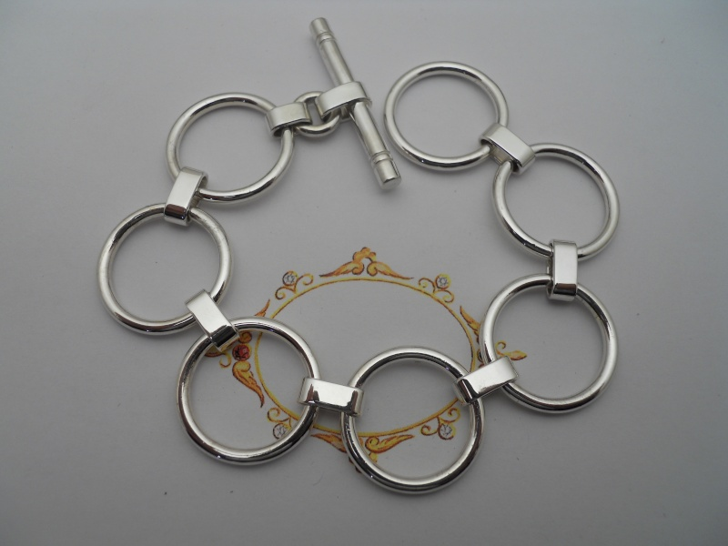 Deux bracelets, chaîne argent '' Argentiium '' 00610