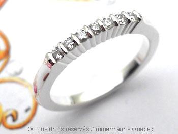 Bague argent serti bride de sept diamants de 2/100 ct Baab6010